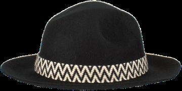 Zwarte Nikkie Hoed Motor Western Hat
