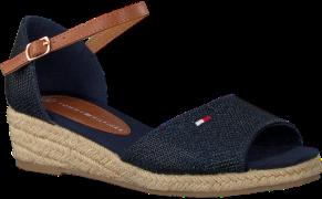 Blauwe Tommy Hilfiger Sandalen Rope Wedge Sandal